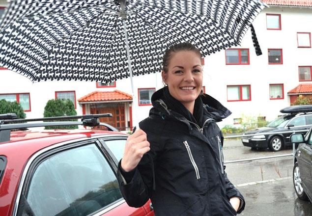 På vei til en kunde. Foto: Sissel Jenseth